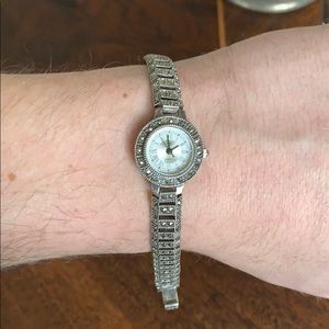 Gorgeous Marcasite and Silver Vintage Watch